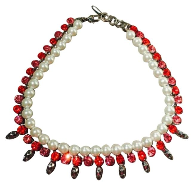 Item - Red Crystal/Pearl With Skull & Necklace