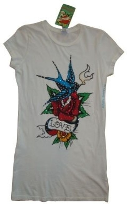 Ed Hardy T Shirt White