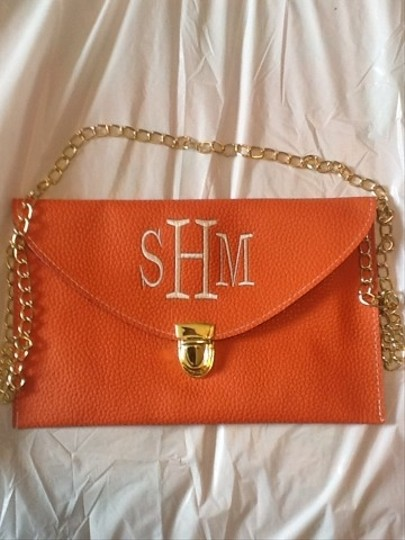 Two Funny Girls Orange Clutch