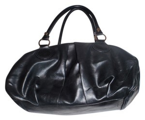 Vera Wang Simple Vera By Man Made Weekend Beach Shopping Tote Satchel in Black