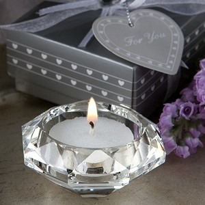 Clear Crystal Diamond Tealight Holders Reception Decoration