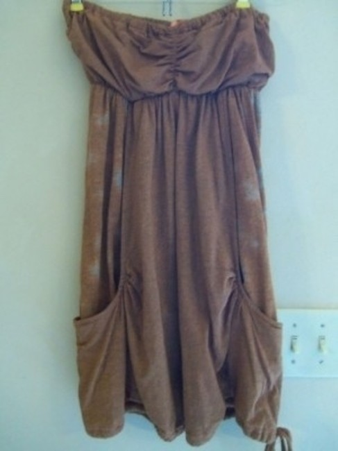 Avatar short dress Brownish Gold w/ Gray spots on both sides on Tradesy