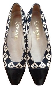 Chanel Spectator Black and White Flats