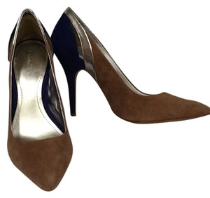 Calvin Klein Suede Tan/Royal Blue Pumps
