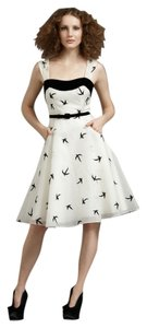Anthropologie Vintage Retro Birds Monogram Dress