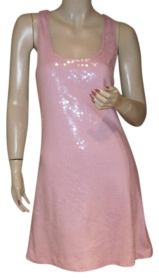 Express Pink Sequin Racerback Club Party S Mini Night Out Dress Size ...