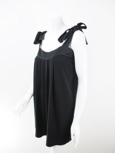 Lotta Stensson short dress Black Life Anthropologie Silk Trim Bow Strap on Tradesy