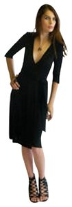 Diane von Furstenberg Dvf Wrap Little Ruffle Asymmetrical Hem Dress