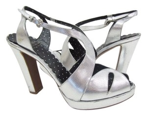 Moschino Heels Cheap And Chic Silver Sandals