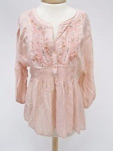 Free People Peach Embroidered 34 Tunic