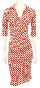 Diane von Furstenberg Chain Link White Wrap Dvf Dress