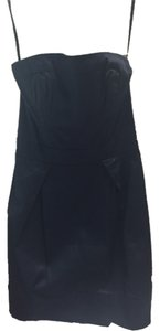 French Connection short dress Navy Blue Strapless on Tradesy