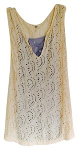 Free People short dress Cream over Grey-Blue on Tradesy