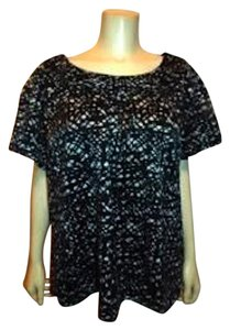 Semantiks P146 Plus Size 14w Black Top BLACK WHITE