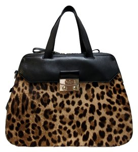 Kate Spade Leather Leopard Calfhair Shoulder Bag
