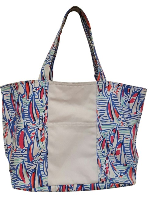 Item - Right Return Beach Style # 11211 Red/White/Blue Cotton Tote