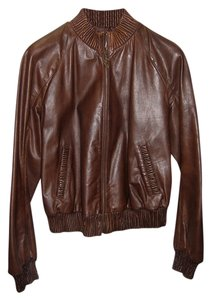 Iceberg Dark Brown Leather Jacket