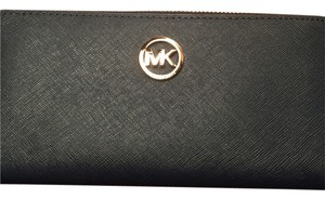 Michael Kors MICHAEL KORS SET ZIP AROUND CONTINENTAL WALLET CLUTCH BAG LUGGAGE LEATHER