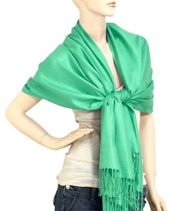 Pashmina Silk Scarf Wrap Shawl Green