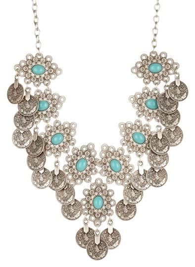 Chanour Chanour Jewelry Handmade Filigree Bib Necklace