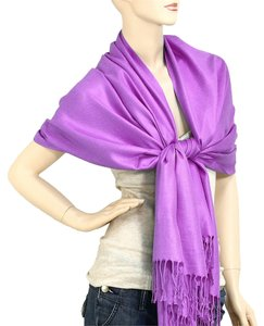 Other Pashmina Silk Scarf Wrap Shawl Purple