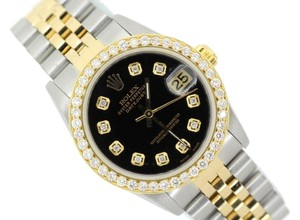 Rolex ROLEX MIDSIZE DATEJUST 2.5CT DIAMOND WATCH