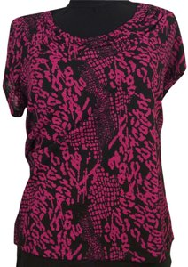 Rafaella Top Black & Fuchsia