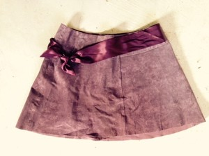 bebe Mini Skirt Maroon