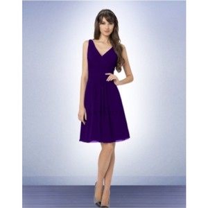 Bill Levkoff Plum Chiffon Casual Bridesmaid/Mob Dress Size 12 (L)
