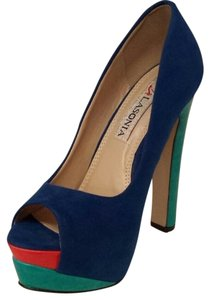 Qupid Blue Pumps