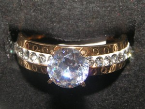 Reduced! 2 Tone Engagement Promise Ring Free Shipping
