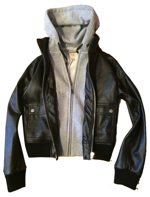 Item - Black/Grey Metallic Hardware Jacket Size 8 (M)