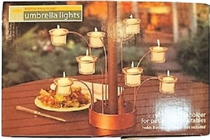 Umbrella Lights; Patio Umbrella Votive Candleholder