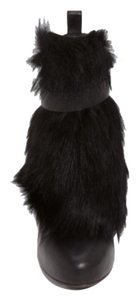 Vince Fur High Heel Black leather/fur Boots