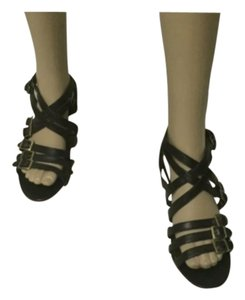 Cynthia Vincent Stina Black Strappy Sandals Sandals