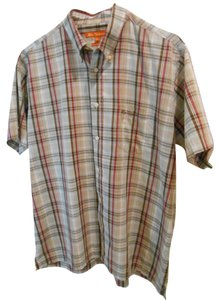 Ben Sherman Mens Men Boys Xl Large Extra Large Shirt Ellen Ellen Collar Shirt Short Sleeve Sleeve Boys Plaid Plaid Over Shirt Xl Button Down Shirt Multiple