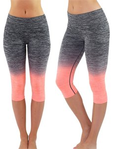 TD High Waist Fitness Yoga Sport pants Printed Stretch Cropped Leggings