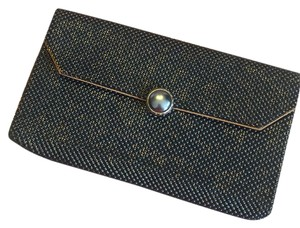 Whiting & Davis Mesh Vintage Holiday Silver Black Clutch