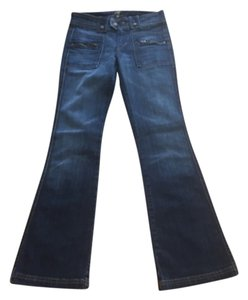7 For All Mankind New Flare Leg Jeans-Medium Wash