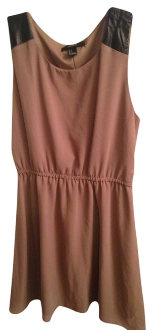 Preload https://item4.tradesy.com/images/forever-21-dress-tan-824803-0-0.jpg?width=400&height=650
