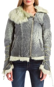 Blur Blue Shearling Coat