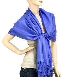 Royal Blue Pashmina Silk Scarf Wrap Shawl