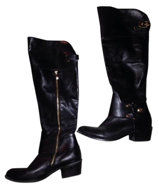 Item - Black Leather Boots/Booties Size US 9.5