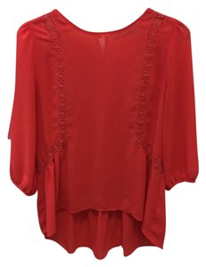 Chloe K Top Red Orange
