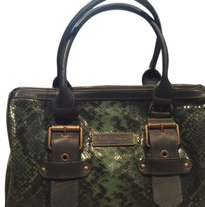 Longchamp Satchel in Green & Black