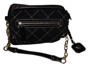 Other Black Quilted Suede Patent Tote