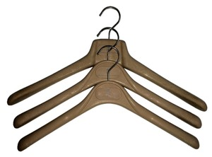 Brunello Cucinelli Lot of 3 Tan Shirt/Coat Hangers CHIC!
