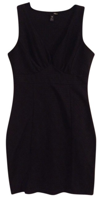 Aqua short dress Black Short Plunging on Tradesy
