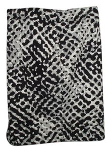 Apt. 9 Animal Print Mini Skirt Black, white & grey