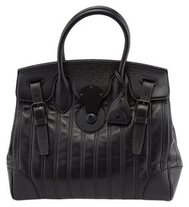 Ralph Lauren Soft Ricky Satchel Tote in Black